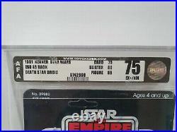 1978 Kenner Star Wars Death Star Droid ESB 45 Back Original AFA 75