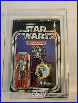 1979 Kenner Star Wars Death Star Droid 20 Back-G AFA 80 MOC