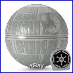 2016 HALLMARK Death Star Tree Topper Disney STAR WARS The Imperial March NIB