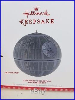 2017 Hallmark Keepsake Ornament Star Wars Collection Jedi Master Set Death Star