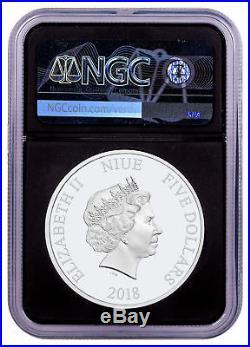 2018 Niue Star Wars Death Star UHR Domed 2 oz Silver NGC PF69 UC FR Blk SKU55164