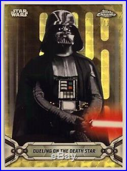 2019 Topps Star Wars Chrome Legacy SUPERFRACTOR #95 DUELING ON DEATH STAR 1/1