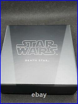 2020 Niue $2 1-oz Silver Star Wars Death Star RARE. Box & COA