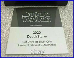 2020 Niue Star Wars Death Star 1 oz. 999 Silver $2 Coin NGC PF 70 UCAM