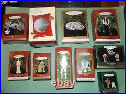 9 Star Wars Hallmark Ornaments Falcon, Death Star, R2D2, Yoda, Leia, Band, Solo