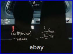 David Prowse/ Ian McDiarmid Signed Star Wars 16x20 with Death Star JSA W Auth