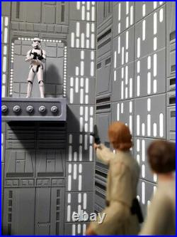 Death Star Chasm Diorama Backdrop 3.75 Scale Star Wars Hasbro Kenner Ships Free