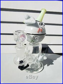 EMPIRE GLASSWORKS uv reactive star wars death star rig waterpipe bong made i USA