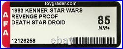 HIGHEST AFA Grade Star Wars REVENGE of the JEDI DEATH STAR DROID PROOF CARD ROTJ