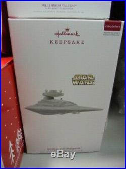 Hallmark STAR WARS STORYTELLERS WREATH Set all 7 Ships Power Cord Death Star