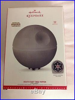 Hallmark Star Wars Death Star Christmas Tree Topper LED VHTF Limited! NR