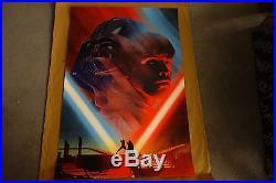 Kevin Tong Cloud City Duel Death Star II Star Wars Mondo Print Set