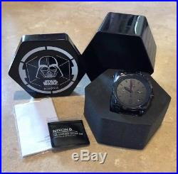 NEW Nixon Darth Vader Star Wars Charger Chrono 42MM Death Star Limited Edition