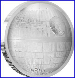 Niue -2018- Silver $5 Proof Coin- 2 OZ Silver Star Wars Death Star