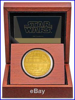 Niue 2020 1 OZ Gold Proof Coin Star Wars Death Star