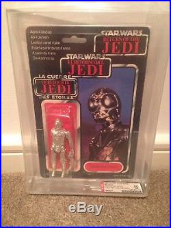 RARE Vintage Palitoy Star Wars C3PO/Death Star Droid MISCARD AFA 80 MOC 1983