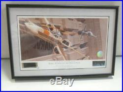 Ralph McQuarrie Autographed Star Wars A New Hope Rebel Attack on the Death Star