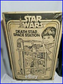 STAR WARS DEATH STAR SPACE STATION Playset Vintage 1977 99% Complete with Box