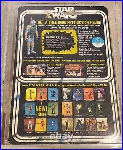 STAR WARS Death Star Droid Boba Fett offer KENNER MOC NIB AFA 80 20 BACK vintage