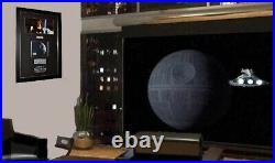 STAR WARS IV Screen-Used Prop DEATH STAR, Signed ALEC GUINNESS, COA, Frame, DVD