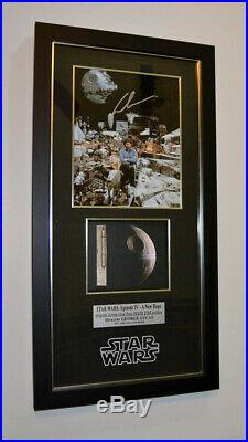 STAR WARS IV Screen-Used Prop DEATH STAR, Signed GEORGE LUCAS COA Frame DVD UACC