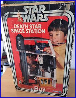 STAR WARS KENNER DEATH STAR SPACE STATION BOXED NEAR COMPLETE inc. DIANOGA