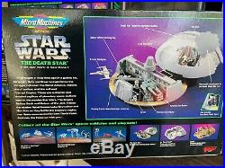 STAR WARS MICRO MACHINES PLAYSET LOT Vintage 90s Death Star Planet Dagobah Endor