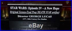 STAR WARS Prop DEATH STAR, COA London Prop Store, DVD, Case, UACC, GEORGE LUCAS