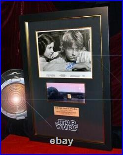 STAR WARS Prop TATOOINE LUKE HOME, Signed MARK HAMILL COA UACC DVD + Death Star