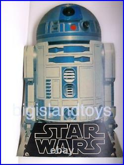 STAR WARS SOUNDTRACK 2T-541 1977 Record Store Display R2-D2 2-Sided Death Star