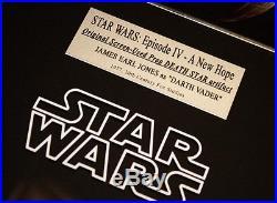 STAR WARS Screen-Used Prop DEATH STAR Signed JAMES EARL JONES COA Frame DVD UACC
