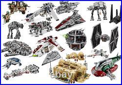 Star At-Ot with Dropship Republic Gunship Wars Millenium Falcon Deathstar