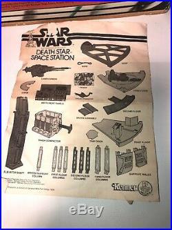 Star Wars 1977 Vintage Kenner Death Star Space Station Box Instructions 100%