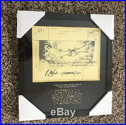 Star Wars A New Hope Production Used Prop Storyboard Luke X-Wing Death Star