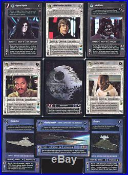 Star Wars CCG Death Star II 2 Set Luke Skywalker Jedi Knight Emperor Palpatine
