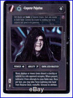 Star Wars CCG Death Star II Emperor Palpatine, Mint/NrMt