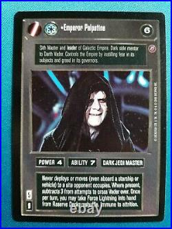 Star Wars CCG Death Star II Emperor Palpatine UR