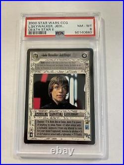 Star Wars CCG Luke Skywalker, Jedi Knight Death Star II PSA 8 Ultra Rare