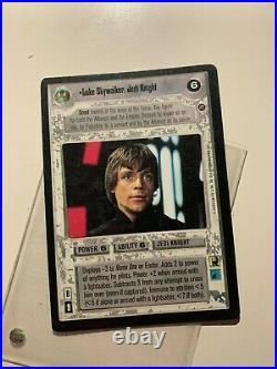 Star Wars CCG Luke Skywalker Jedi Knight UR Ultra Rare Death Star II SWCCG