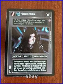 Star Wars CCG SWCCG Emperor Palpatine Death Star II 2 Card Collection Cards