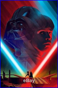 Star Wars Cloud City & Death Star II Duel Kevin Tong, sold out mondo poster