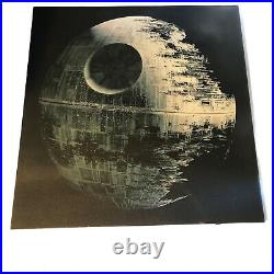 Star Wars Death Star Lighted Canvas Rare Item by Pottery Barn 36x36 by 1.25