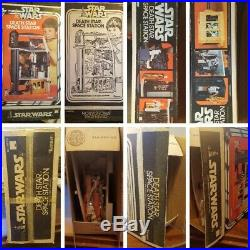 Star Wars Death Star space station with rare action figures Kenner 1977