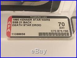 Star Wars ESB Death Star Droid 21 Back RARE AFA 70