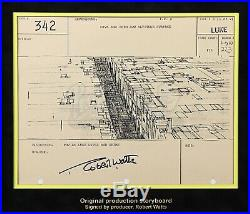 Star Wars Ep IV A New Hope Signed Production Storyboard Death Star Trench