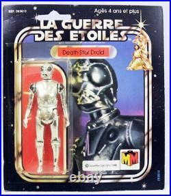 Star Wars La Guerre des Etoiles 1981 Meccano Death Star Droid carte carrée