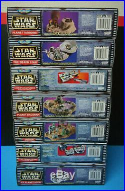 Star Wars Micro Machines Play Set Lot Of 7 Death Star Vaders Lightsaber Endor