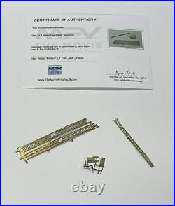 Star Wars Return Of The Jedi Death Star 3 Metal Sections Screen Used Prop With COA