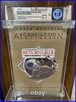Star Wars Return of the Jedi Death Star Atari 400 800 XE WATA 9.8 A++ Perfect