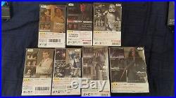 Star Wars S. H. Figuarts Lot Death Star Base, Darth Maul, Mace Windu, ObiWan, etc